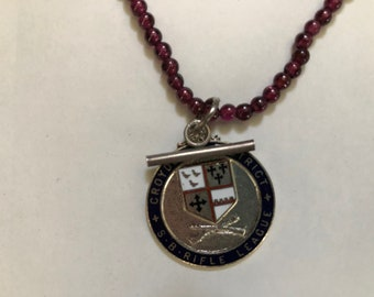 Vintage United Kingdom Smethwick Schools Sports Association medal ca 1950 FV573
