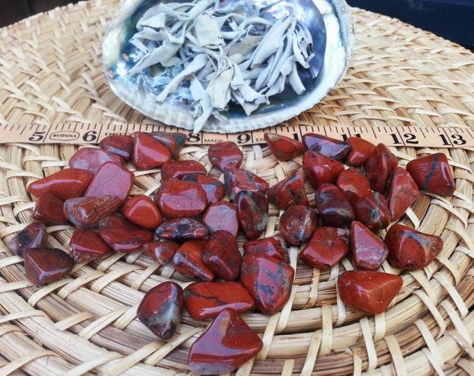 Brecciated Jasper ~ 1 small Reiki infused tumbled stone