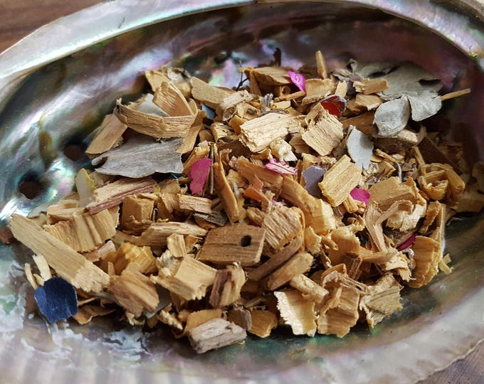 Kapachi Blend smudge/incense, Palo Santo smudge mix, Reiki infused 1/2 ounce