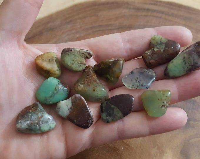 Chrysoprase ~ 1 small/medium Reiki infused tumbled crystal approx .6-.9 inch
