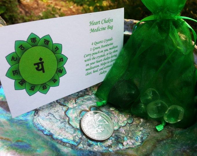 Heart Chakra ~ Reiki infused medicine bag, chakra bag
