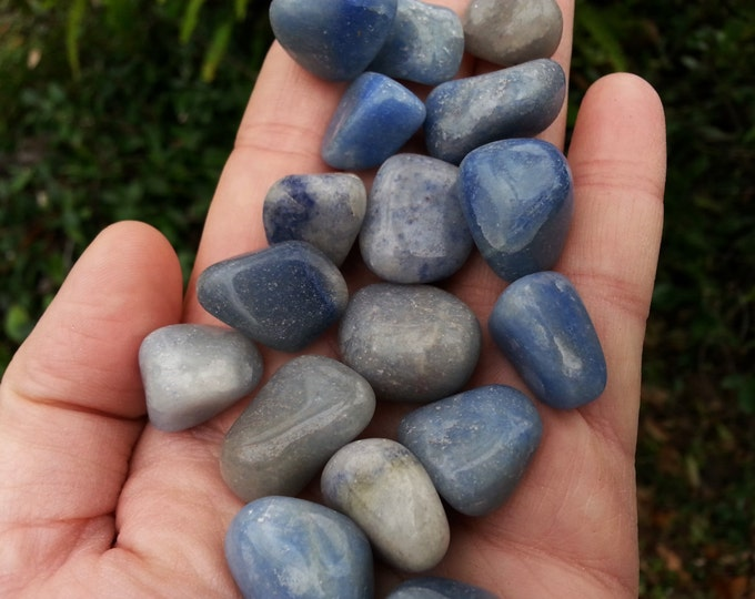 Blue Quartz (Dumortierite) ~ 1 small/medium Reiki infused tumbled stone