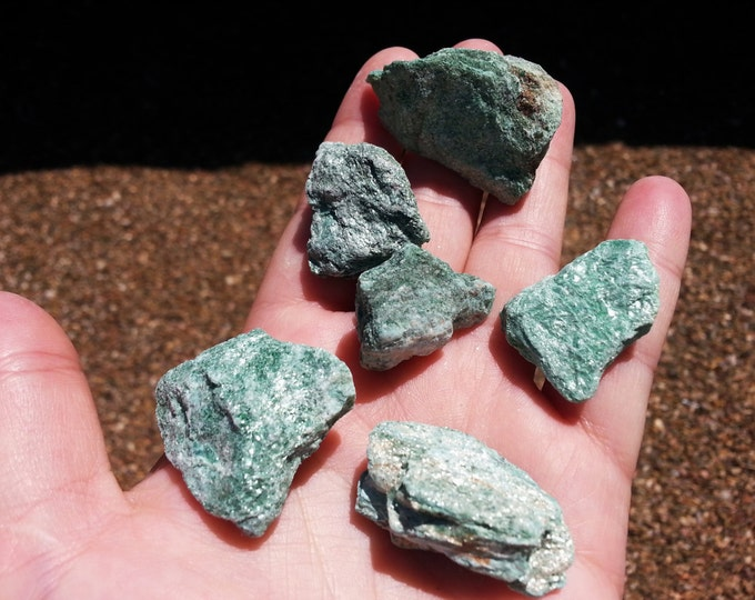 Fuchsite ~ 1 small Reiki infused rough crystal approximately 1.25 x 1 inches