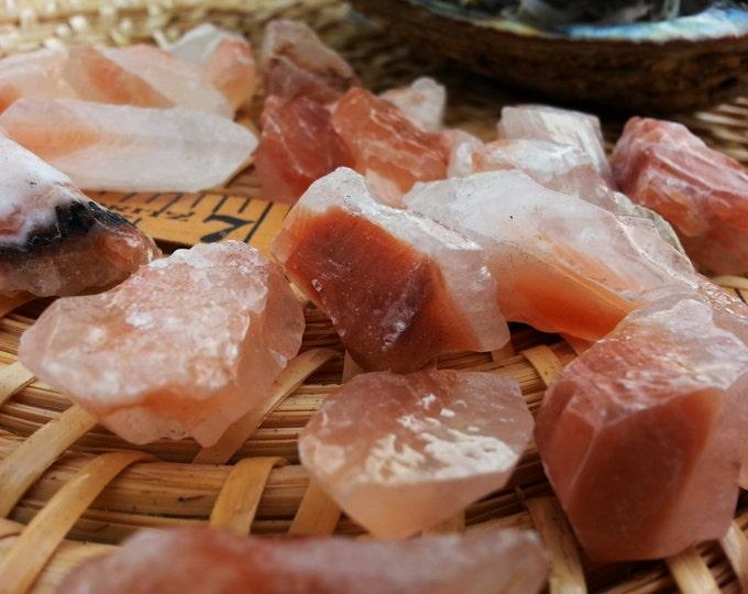 Red Calcite ~ 1 medium Reiki infused rough stone