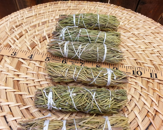 Medium Rosemary (RosmarinusOfficinalis) Bundle approximately 4-5 inches, wild harvested, Reiki infused