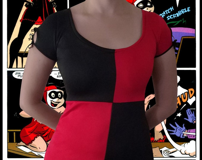 Womens Harley Quinn Cosplay Dress