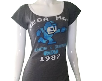 Mega Man fitted scoop neck dress