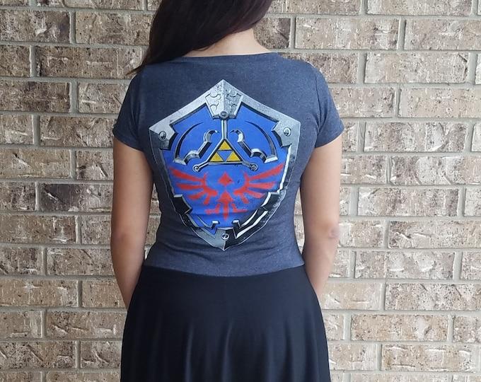 Legend of Zelda Link Shield V Neck Dress/ Zelda Dress / Triforce Dress / Link Shield Dress