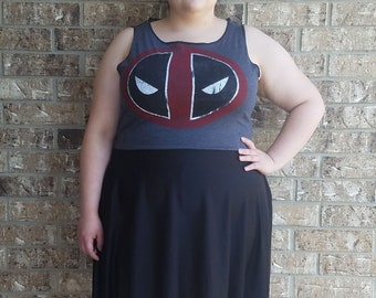 Marvel Deadpool Lace Bacl Dress with pockets Plus Size/ Deadpool dress/ deadpool 2 dress/ marvel dress