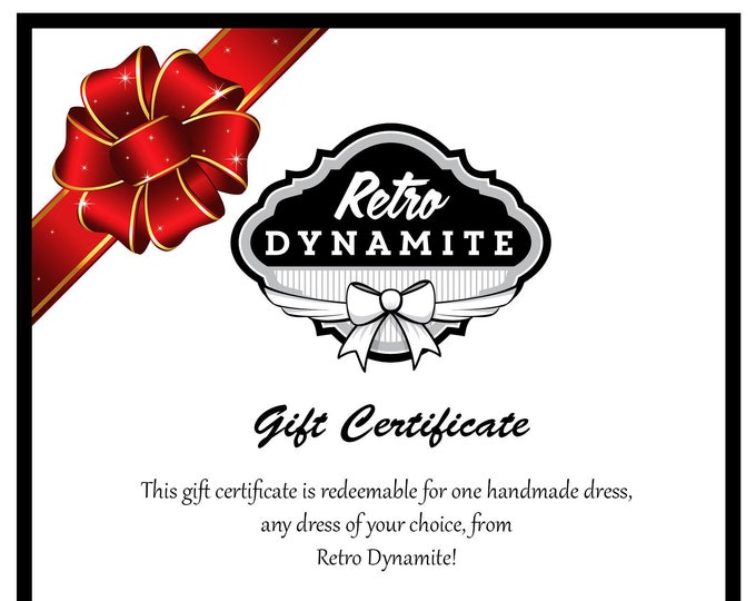 Retro Dynamite Gift Certificate