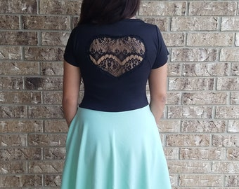 Lace Back Dress with Pockets