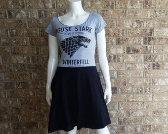 Game of Thrones House Stark Babydoll Scoop Neck Dress