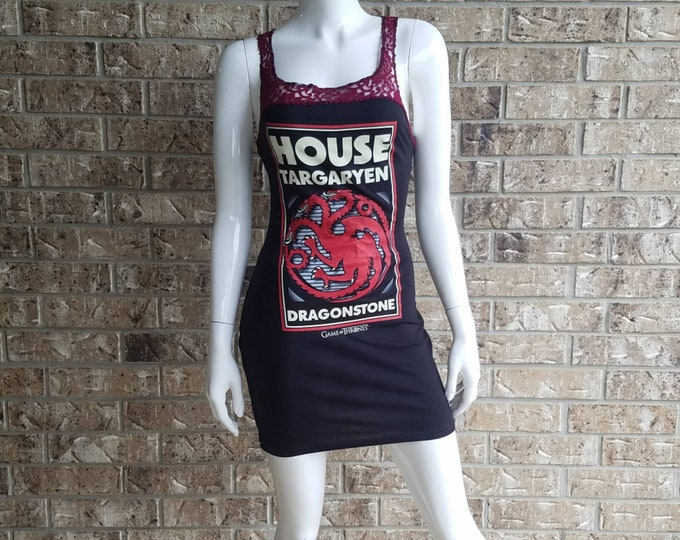 Game of Thrones House Targaryen fitted lace dress