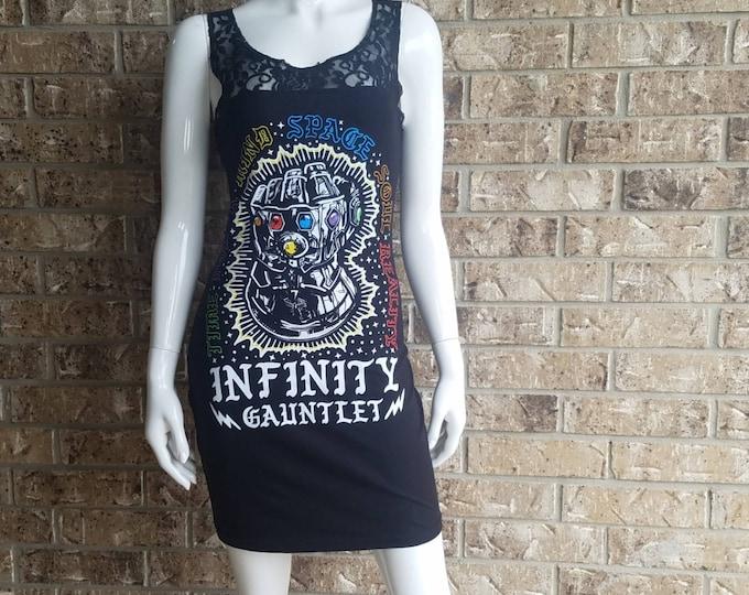 Avengers Infinity Gauntlet Lace Back Dress