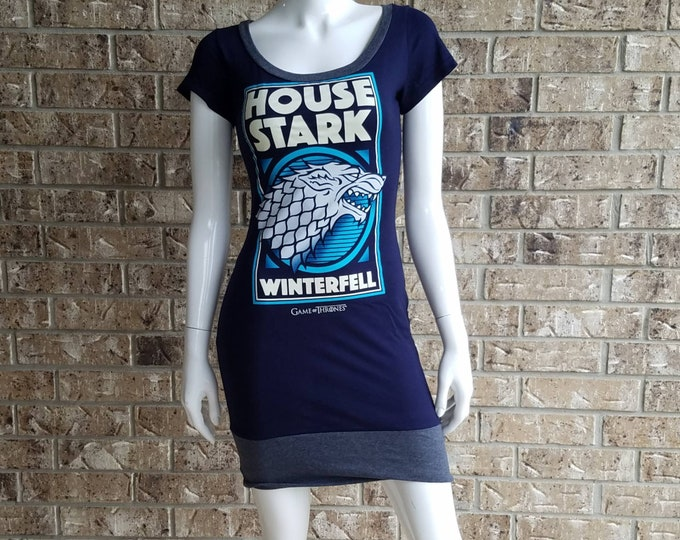 Game of Thrones House Stark  Fitted Scoop Neck Dress