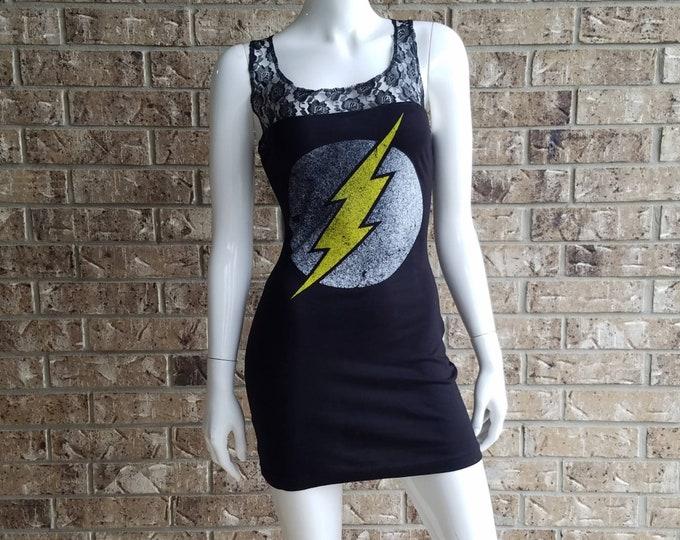 DC Universe The Flash Black Lace Top Dress