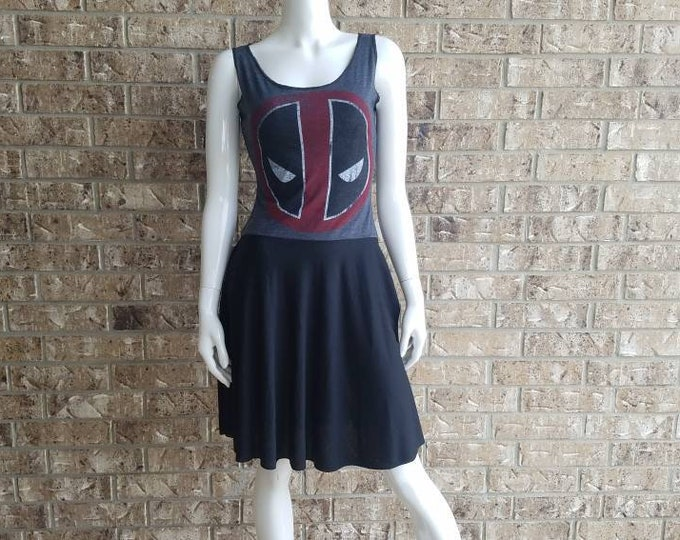 Marvel Deadpool Lace Bacl Dress with pockets / Deadpool dress/ deadpool 2 dress/ marvel dress