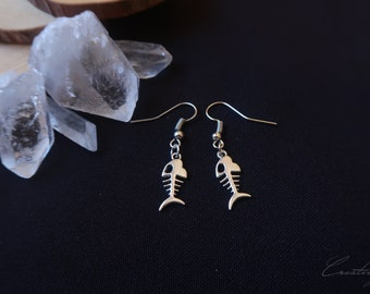 Fish Birthstone Earrings Personalized Nautical Earrings Fishing Earrings Lake Earrings Beach Earrings