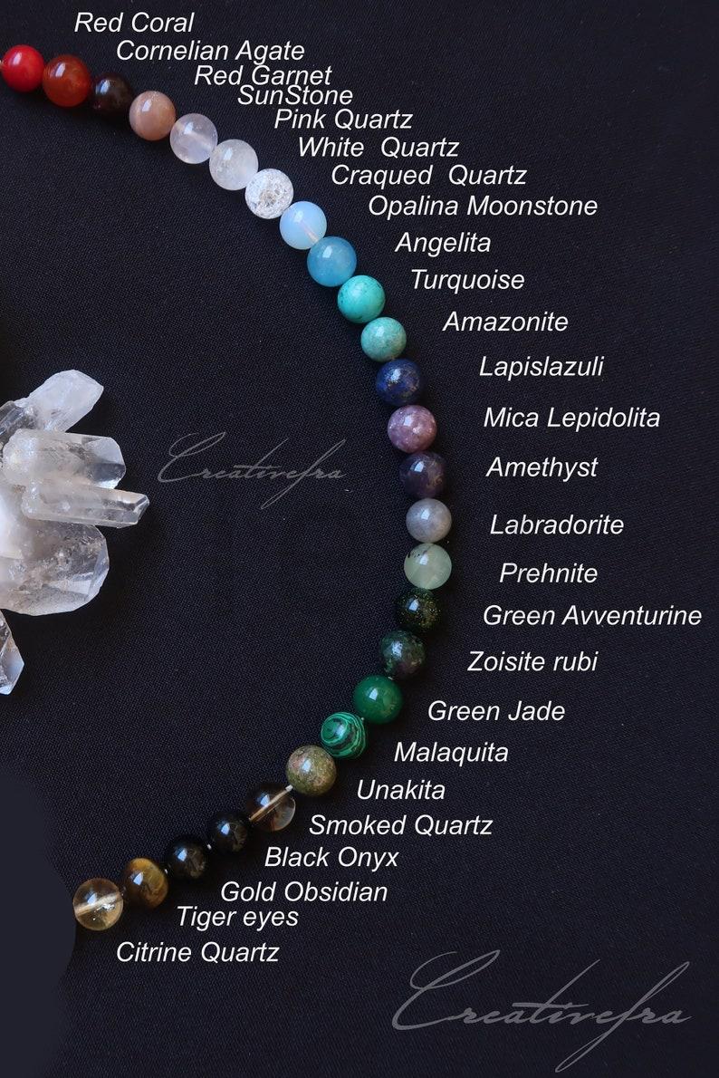 boho gemstones handmade beaded jewelry Fox Spirit Healing Bracelets: set of 3