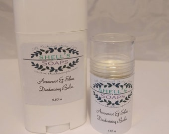 Organic Arrowroot Deodorant - Three Scents - Two Sizes!