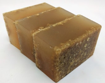 Exfoliating Honey Oatmeal Glycerin Soap