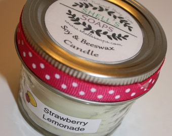 4 oz Soy and Beeswax Candle