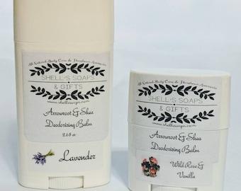 Organic Arrowroot Deodorant- Two Sizes