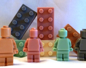 Builder Men and Blocks Soap- 3 pack