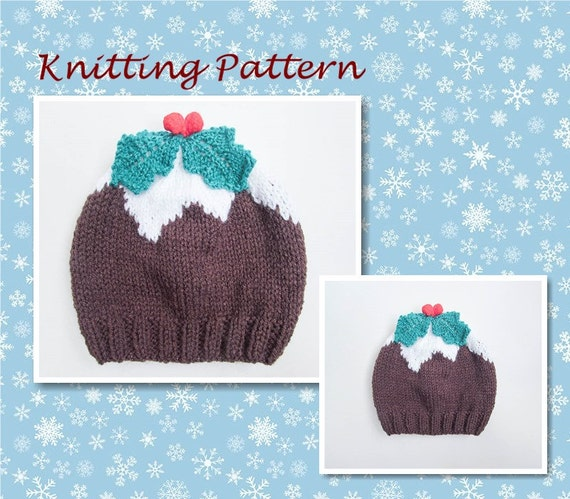 Knitting Pattern Christmas Pudding Hat Baby Beanie Hat