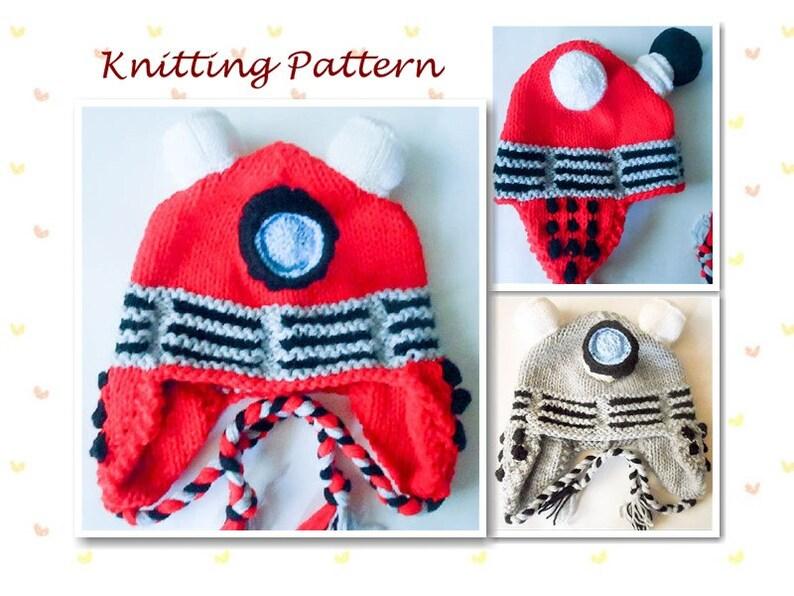 78ce835dc7b Knitting Pattern Robot hat Dalek Hat dr who character hat