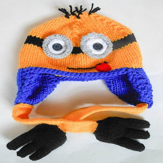 Knitting Pattern Minion Hat Pattern Minion Hat Animal Hat Minion