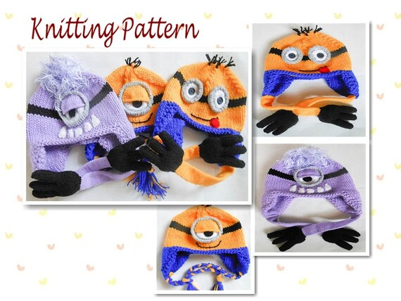 Knitting Pattern Minion Hat Pattern Minion Hat Animal Hat Etsy