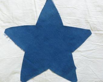 Denim Fabric~Pre Cut Star~Pillow Front