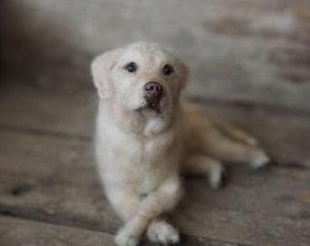Custom Needle Felted Pet Replica, Dog portrait, Pet loss gift, Felted Dog Sculpture