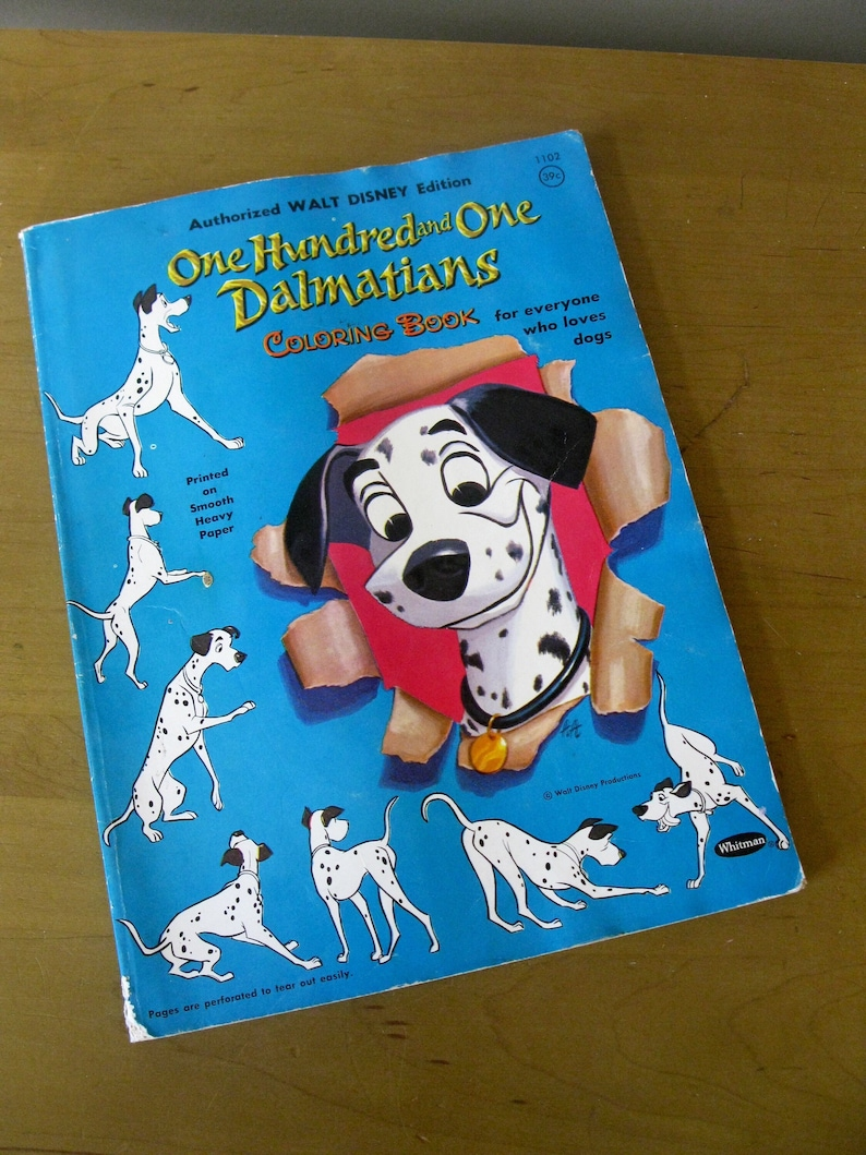 1960 DISNEY coloring Book 101 DALMATIANS Walt Disney | Etsy