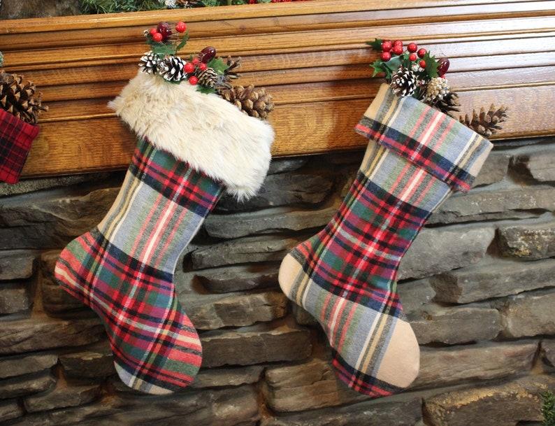 Christmas Plaid Flannel Stocking
