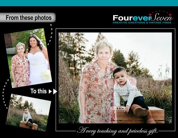 mother/'s Day add deceased love one to photo add people to photo add person to photo black /& white Mother/'s Day Gift