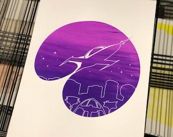 Retro Future Screen Print