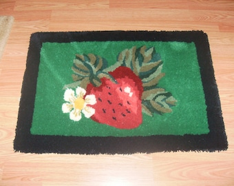 Green and Red Strawberry Rug