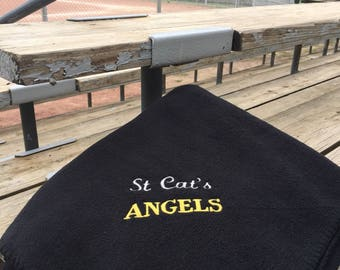 """Personalized Stadium Blanket with Name, Custom Blanket Gift Personalized Fleece Throw, 50""""x60"""" choice of colors, Personalized Blanket"""