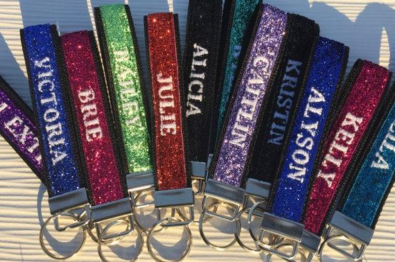 Womens Personalized Keychain Wristlet Custom Keychain  aa13f7655b
