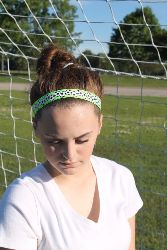 Lime Green Soccer Headbands for Girls 4b7da3f0e96