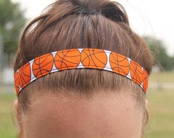 Basketball Headband Non Slip, Choice of Size,  Basketball Gifts for Girls, Sport Headbands for Women, Basketball Gift for Basketball Players