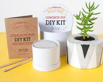 DIY Kit Concrete Pot | Planter Craft Box | Craft Kit