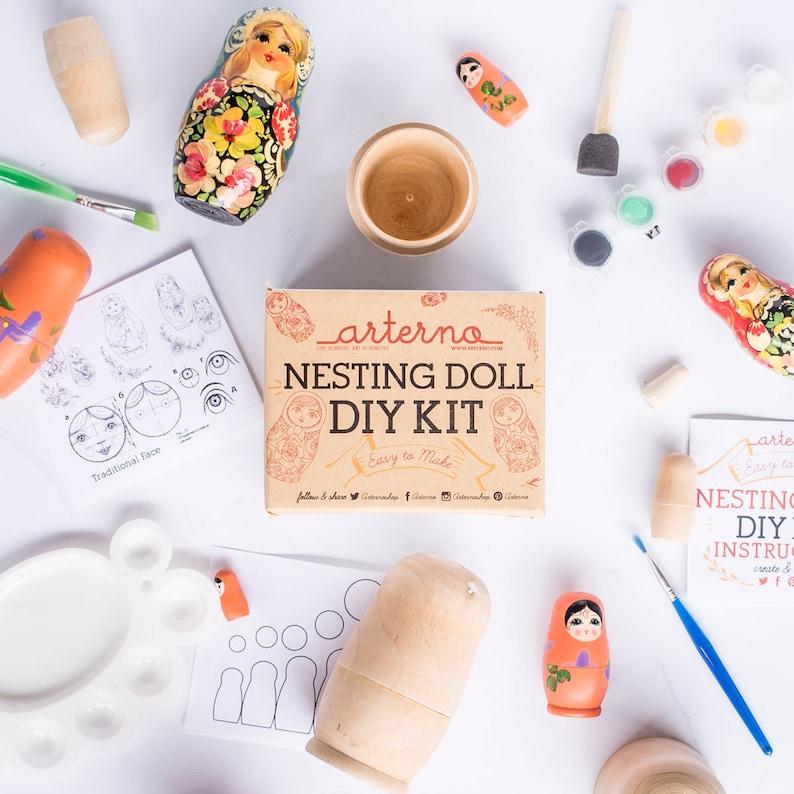 DIY Nesting Matryoshka  Russian Doll Kit  Craft Gift image 0