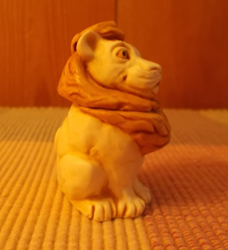 Vintage~LION~HARMONY KINGDOM~Marble~Trinket~Box~Stash~Box~Jewelry Box~Desk Decor~Made~in~England~Signed~Retired~Collectable