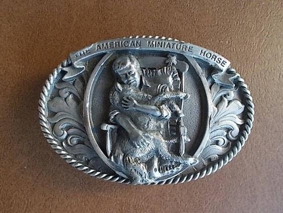 Vintage cheval Miniature américain boucle de ceinture   Etsy c27f92c0bfc