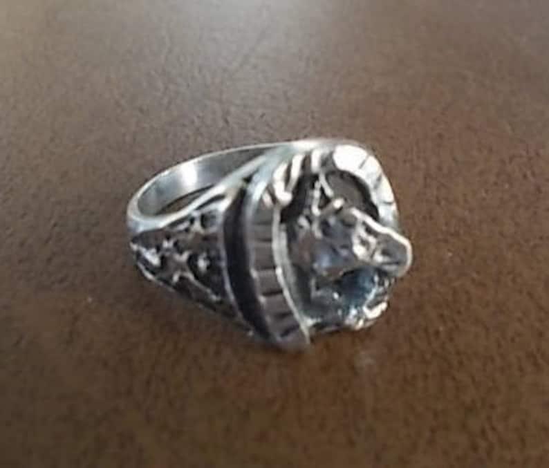 a5141c031c Vintage anillo de herradura plata hombres Womans sz