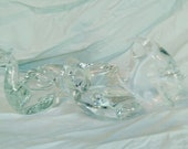 MURANO glass menagerie - 4 pieces. Angel fish, frog, snail, starfish votive holder