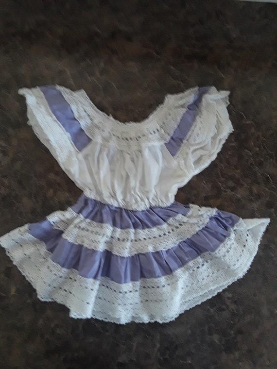 1940s Handmade Toddler Girls Play Dress Cotton
